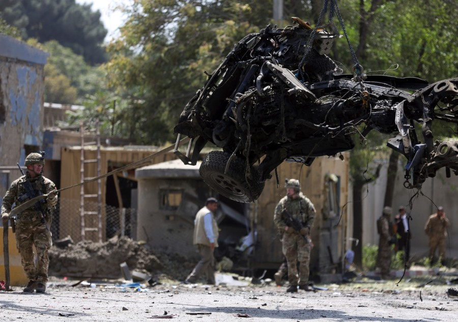 Taliban suicide bombing in Kabul kills 10 near US Embassy, NATO Resolute Support mission